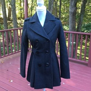 Miss 60 XS double breasted wool blend pea coat